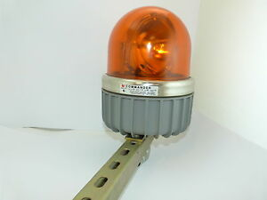 Federal Singal Corp 371 Commander Amber Rotating Beacon Safety Light Used