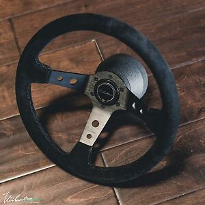 Steering Wheel Suede Black Stitch Fits Nrg Hub Viilante Tourismo 350mm