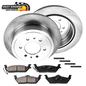 Rear 348 Mm Brake Disc Rotors And Ceramic Pads Kit Ford F150 Mark Lt 4x4 4wd 2wd