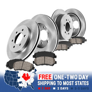 Front Rear Rotors Ceramic Pads For Buick Enclave Chevy Traverse Outlook