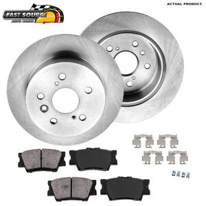 Rear Brake Rotors And Ceramic Pads For Lexus Es300h Es350 Toyota Avalon Camry