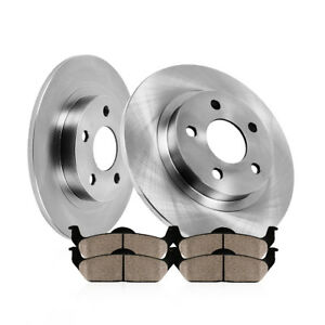 Rear 260 Mm Brake Rotors And Ceramic Pads Kit Honda Accord Coupe Sedan Acura Tsx