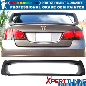 Fits 06 11 Honda Civic Mugen Style Painted Abs Trunk Spoiler Oem Painted Color