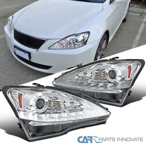 Fit 06 09 Lexus Is250 Is350 Clear Smd Led Strip Projector Headlights led Signal