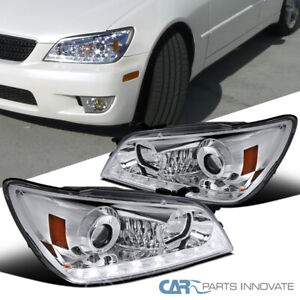 Fit 01 05 Lexus Is300 Clear Integrated Led Signal Strip Projector Headlights