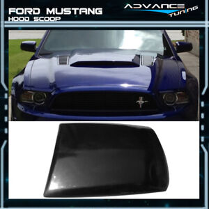 For 13 14 Ford Mustang 2dr V6 Gt Boss Air Hood Vent Scoop Unpainted Black Pu