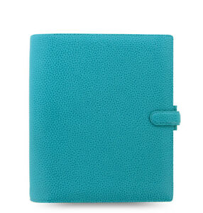 Filofax A5 Finsbury Aqua Thick Genuine Leather Organiser