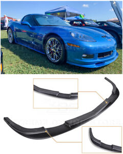 Zr1 Style Front Bumper Lower Splitter Lip Spoiler Kit For 05 13 Corvette C6 Z06