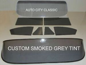 1953 1954 Chevy Bel Air Coupe Windshield Vent Door Quarter Rear Back Glass Grey