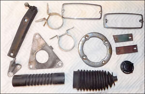 Lot Of Original Mgb Parts Hose Boot Surround Clamps Bezels Support Etc