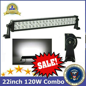 Philips 22inch 120w Led Work Light Bar Spot Flood Combo Truck Offroad 20 24 32