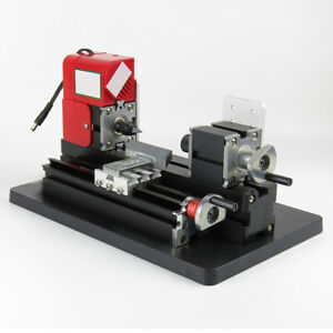 Mini Motorized Lathe Machine Diy Tool Metal Woodworking Hobby Modelmaking