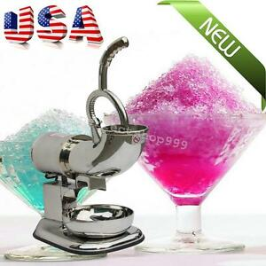 Usa Ice Shaver Machine Snow Cone Maker Shaved Icee Electric Crusher Cool 220watt