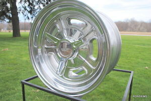 15x8 Gasser Halbrand Style Chevy Gm Buick American Racing Vn502 5x4 75 Bp