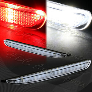 For 2003 2008 Mazda 6 Clear Lens Led Rear Bumper Reflector Brake Stop Light Lamp