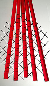 2 Pc 5 8 Diameter X Nominal12 Inch Long Clear Red Acrylic Plexiglass Color Rod