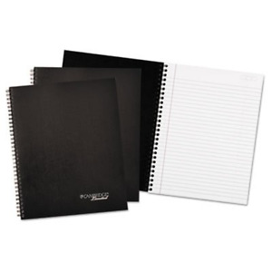 Wirebound Business Notebook 7 1 4 X 9 1 2 Black Cover 80 Sheets 3 pack