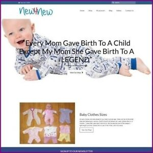 Baby Clothes Website Business For Sale earn 41 60 A Sale free Domain hosting