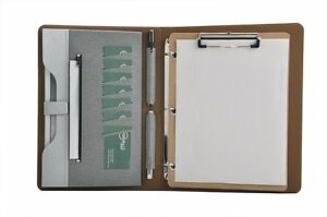 Smart 3 Ring Binder Portfolio Case With Clipboard For Organizing Loose Gray