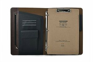 Ultra Slim 3 Ring Binder Portfolio Case With Clipboard For Organizing Loose