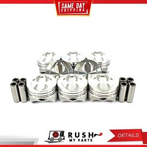 Dnj P3104 Std Size Compl Piston Set For 96 02 Chevrolet Gmc 5 7l Vortec