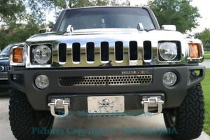 Front Bumper Stainless Letters For 06 10 Hummer H3 set Of 6 Made In Usa