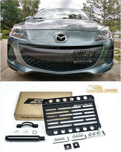 Eos For 10 13 Mazda Mazda3 Front Bumper Tow Hook License Plate Relocator Bracket