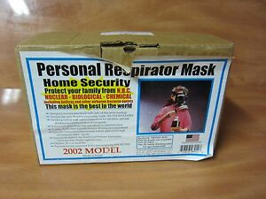 Nbc Civilian Respirators Mask Model 10a1 Free Shipping