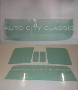 1957 1958 Ford Ranchero Glass Windshield Vent Door And Rear Back Green Tint