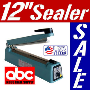 12 300mm Manual Impulse Heat Sealer Poly Bag Machine Free Element Grip