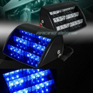 18 Led Blue Car Truck Emergency Warning Dashboard Interior Flash Strobe Light