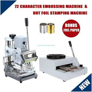 Hot Foil Stamping Stamper Tipper 72 Character Pvc Card Embossing Machine