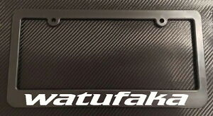 Watufaka License Plate Frame Black Choose Color Hi Hawaiian Aloha Life Jdm