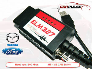Elm327 Usb Hs ms Can Elm Config Forscan For Mazda Ford Focus Ii C max I Kuga I