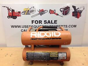 Ridgid Of45175a 4 5 Gal Air Compressor Electric Small Portable Industrial Used