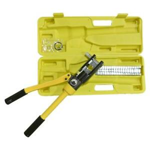 16 Ton Hydraulic Wire Terminal Crimper Battery Cable Lug Crimping Tool W 11 Dies