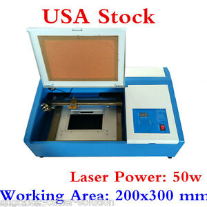 Usa High Quality 50w Co2 Laser Engraving Cutting Machine 300x200mm up down