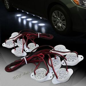 Brabus Style White 90 Led Underglow Under Car Puddle Lighting Lamp Universal