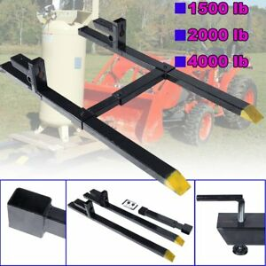 43 60 Clamp On Pallet Forks Loader Bucket Skidsteer Tractor W stabilizer Bar