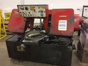 Amada Mdl Ha 400w Horizontal Band Saw With Conveyors 113356 113357
