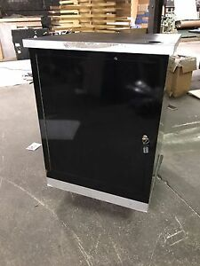 Glossy Black Cabinet Storage With Lock