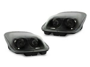 Depo 97 98 99 00 01 02 04 Chevy Corvette C5 Black Clear Projector Headlights
