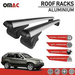 Roof Rack Cross Bars Luggage Carrier Silver Alu For Bmw X5 E70 2007 2013