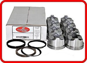 62 67 Chevrolet gm Sbc 327 5 4l Ohv V8 8 flat top Pistons Moly Rings