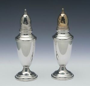 Towle Salt Pepper Shaker Pair Sterling Silver