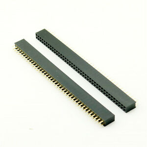 100pcs Pitch 2 54mm 2x40 Pin 80 Pin Female Double Row Straight Pin Header Strip