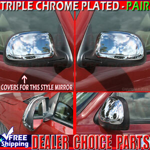 1999 2006 Chevy Silverado Gmc Sierra Chrome Mirror Covers Overlay Trims Caps