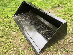 New Heavy Duty 72 Skid Steer Bucket For Bobcat Case cat john Deere