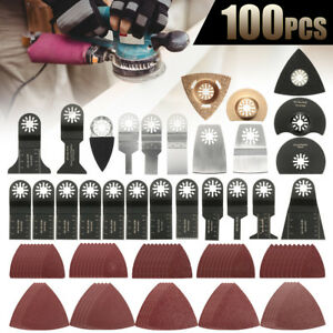 100pcs Oscillating Saw Blade Multi Tool Accessories Kit For Fein Bosch Makita