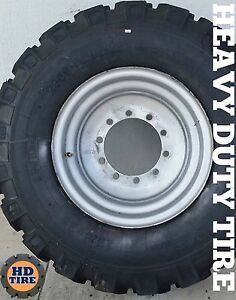 17 5 25 Jlg 12055 skytrak 10054 telehandler On 10 Bolt Wheels 17 5x25 Tyre X 2